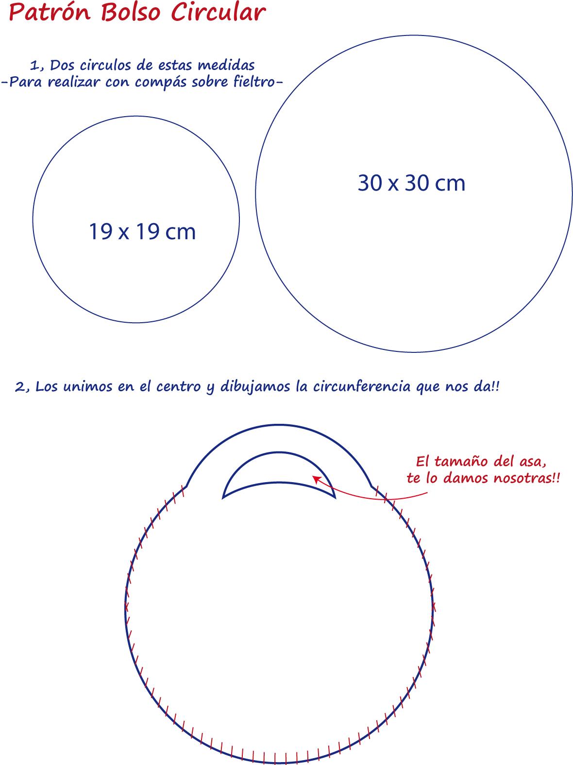 Fieltrotopía: Patron de Bolso Redondo! | Handmade Handbags ...