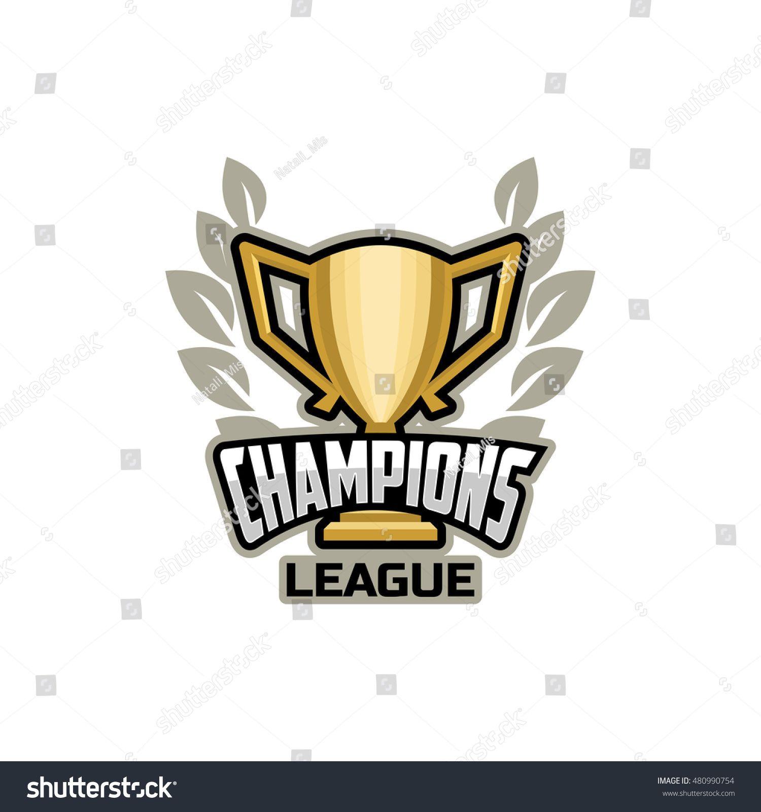 Champions sports league logo, emblem, illustration, banner