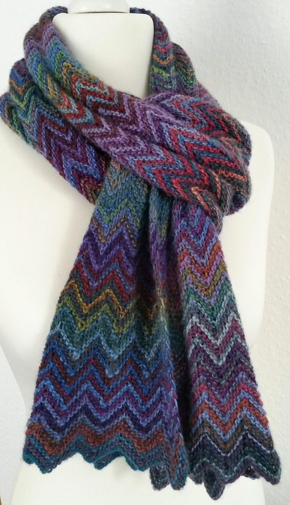 Easy Scarf Knitting Patterns | Stitching | Pinterest | Easy scarf ...