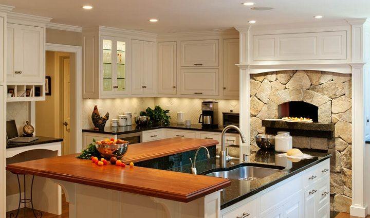 Best 100 Beautiful Modern Kitchen Ideas Indoor Pizza Oven 400 x 300