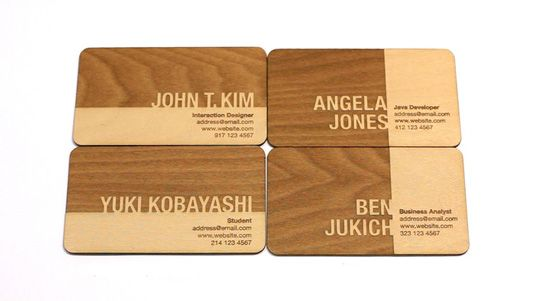 Designer John T.Kim created this sophisticated design by laser cutting and etching basswood