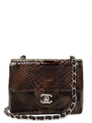 987bed39f98c Chanel Brown Ombre Python Mini 2.55 Shoulder/Crossbody Flap Bag $5205  Vintage on Gilt #Chanelhandbags