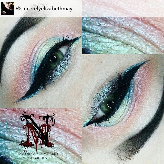 @sincerelyelizabethmay did this stunning look using the Seelie Collection of our Daoine Sidhe spring collection. For this look she used Pay What Is Owed, Fight For Beauty, Love Reigns, and Glorious Honor over Shadow Bind. She also used the highlighter Power Of The Fae.