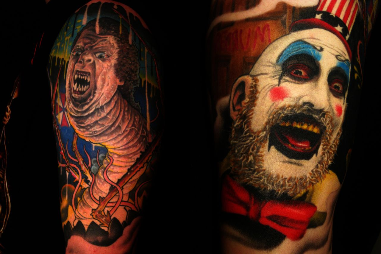 This Is My Half Sleeve Of Horror Characters And References As