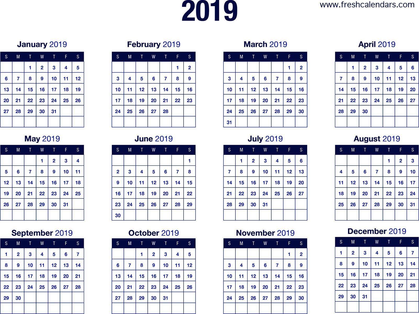 Calendar October 2019 Calendar 2019 Printable Calendar 2019