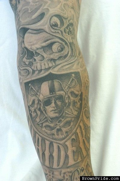 oakland raiders tattoos images search raiders