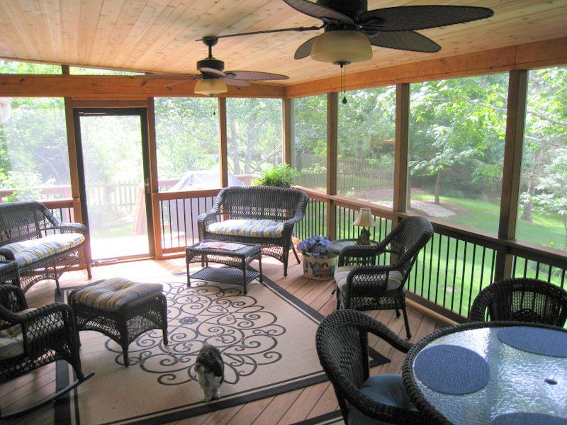 Screened Porch Interior | Screened Porch Interior Designs In Kansas City
