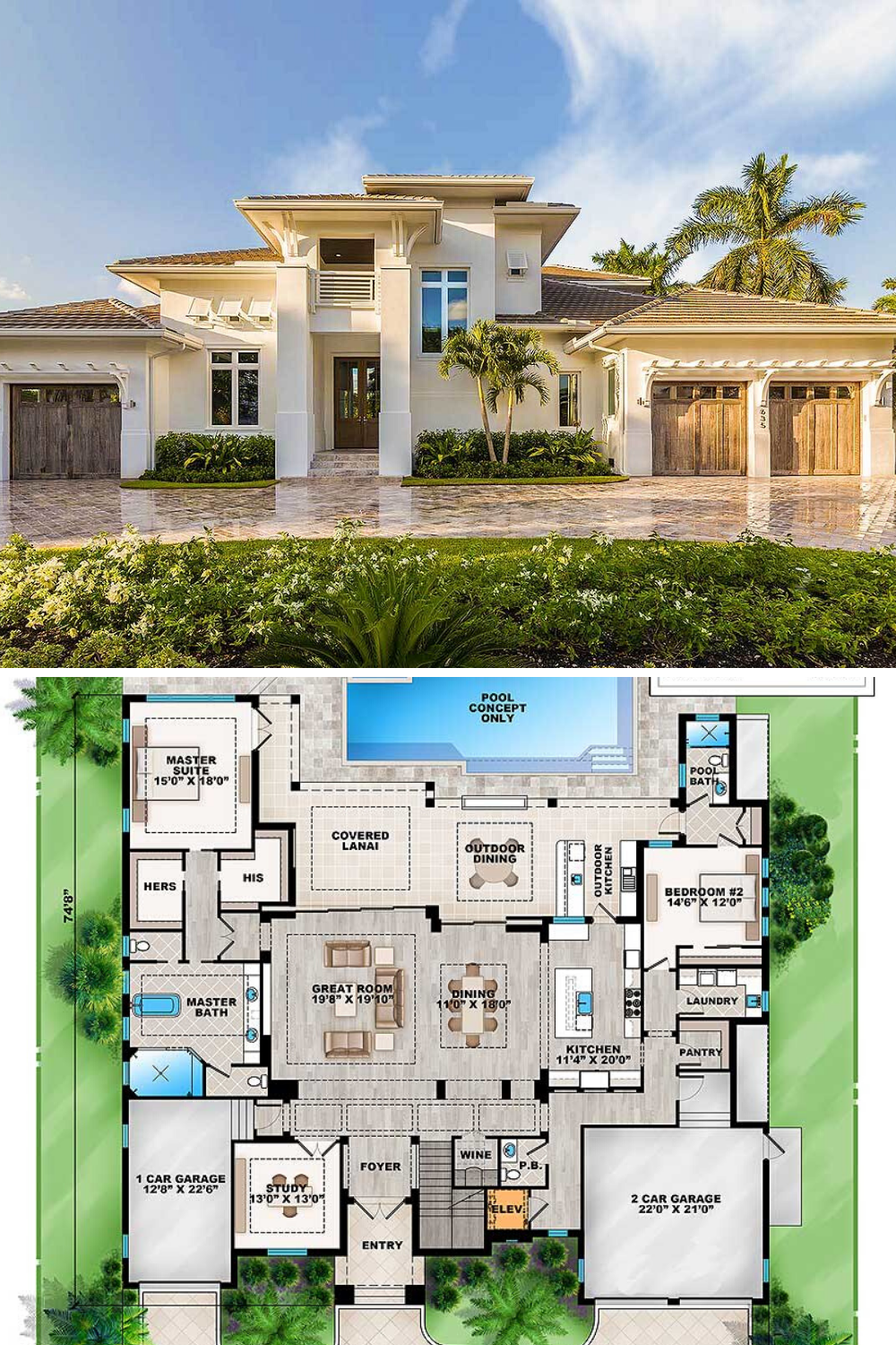 4 Bedroom Two Story Grand Florida Home Floor Plan Beautiful House Plans House Plans Mansion Mansion Floor Plan