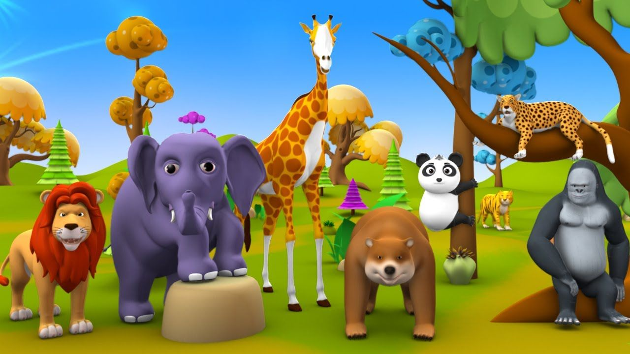 Wild Animals Fun Play at Forest Learn Zoo Animals Names
