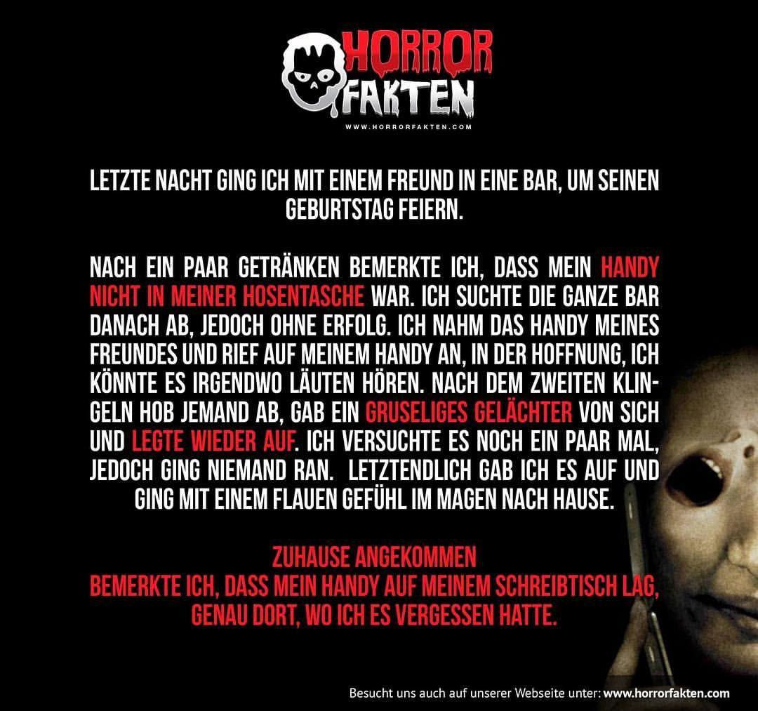 Gute Nacht Geschichte. #horrorfakten | scary | Horror ...