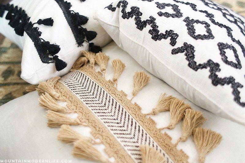 No Sew DIY Boho Pillows | Boho pillows