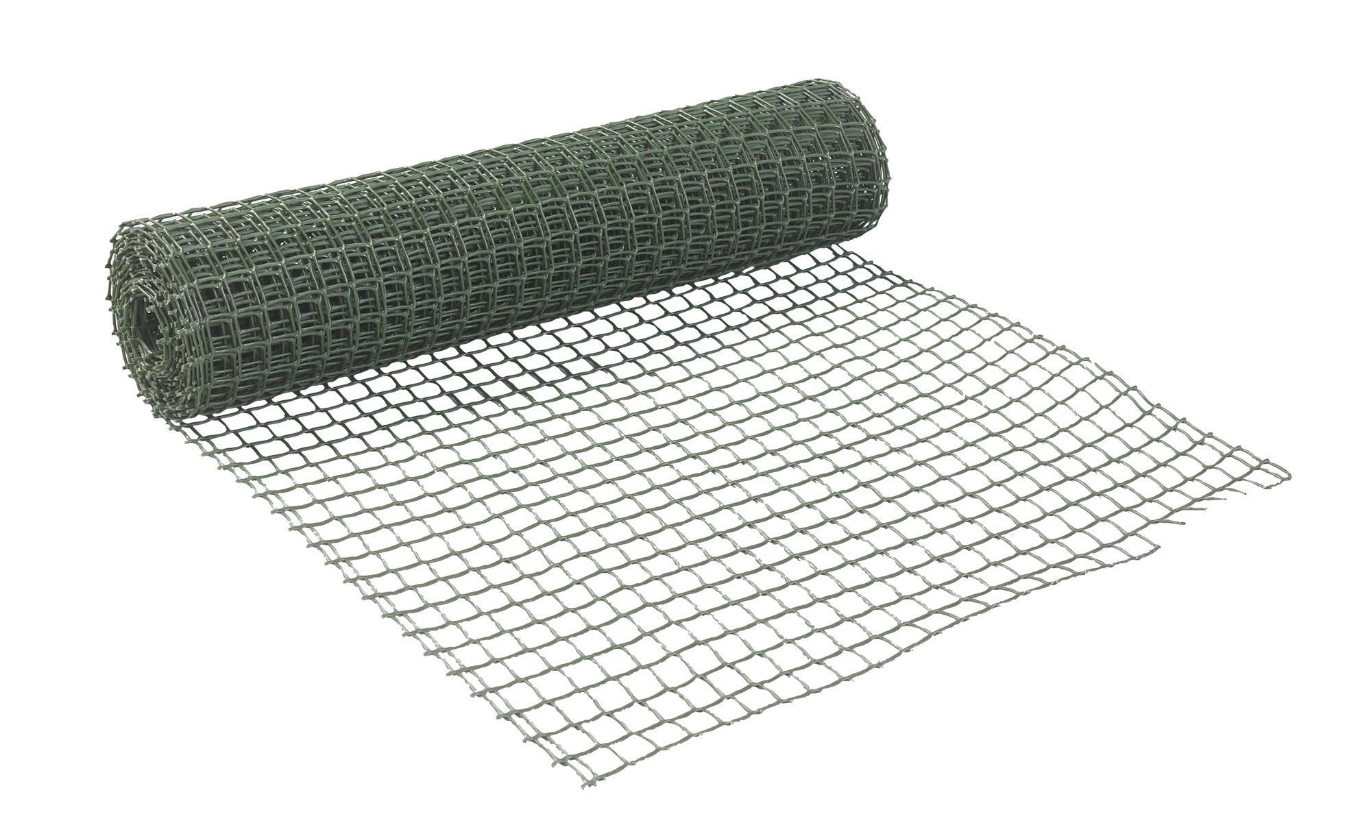 Green PVC Wire Mesh (W)500mm (L)5m | Wire mesh and Gatos