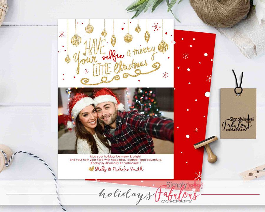 Christmas Card Holiday Card Selfie Christmas Card Etsy Selfie Christmas Card Holiday Cards Family Family Christmas Cards