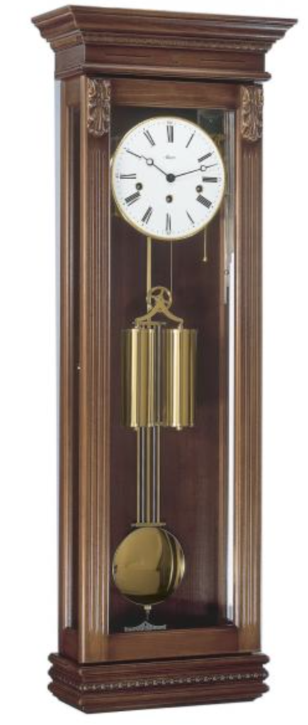 German Hermle Black Forest Chiming Keywound Wall Clock Antique Walnut Theclockfather Wall Clock Clock Antique Wall Clock
