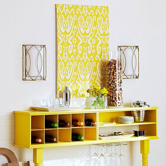 DIY Wall Art Projects | Stenciling, Walls and Bright yellow