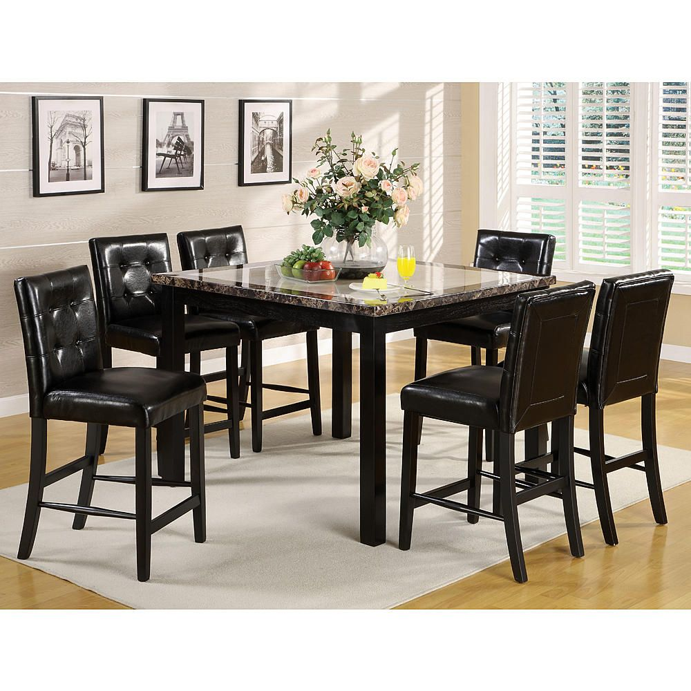 4ced5e068912 Furniture of America Yellans 7-Piece Counter Height Dining Set - Home -  Furniture - Bar Furniture - Pub Sets