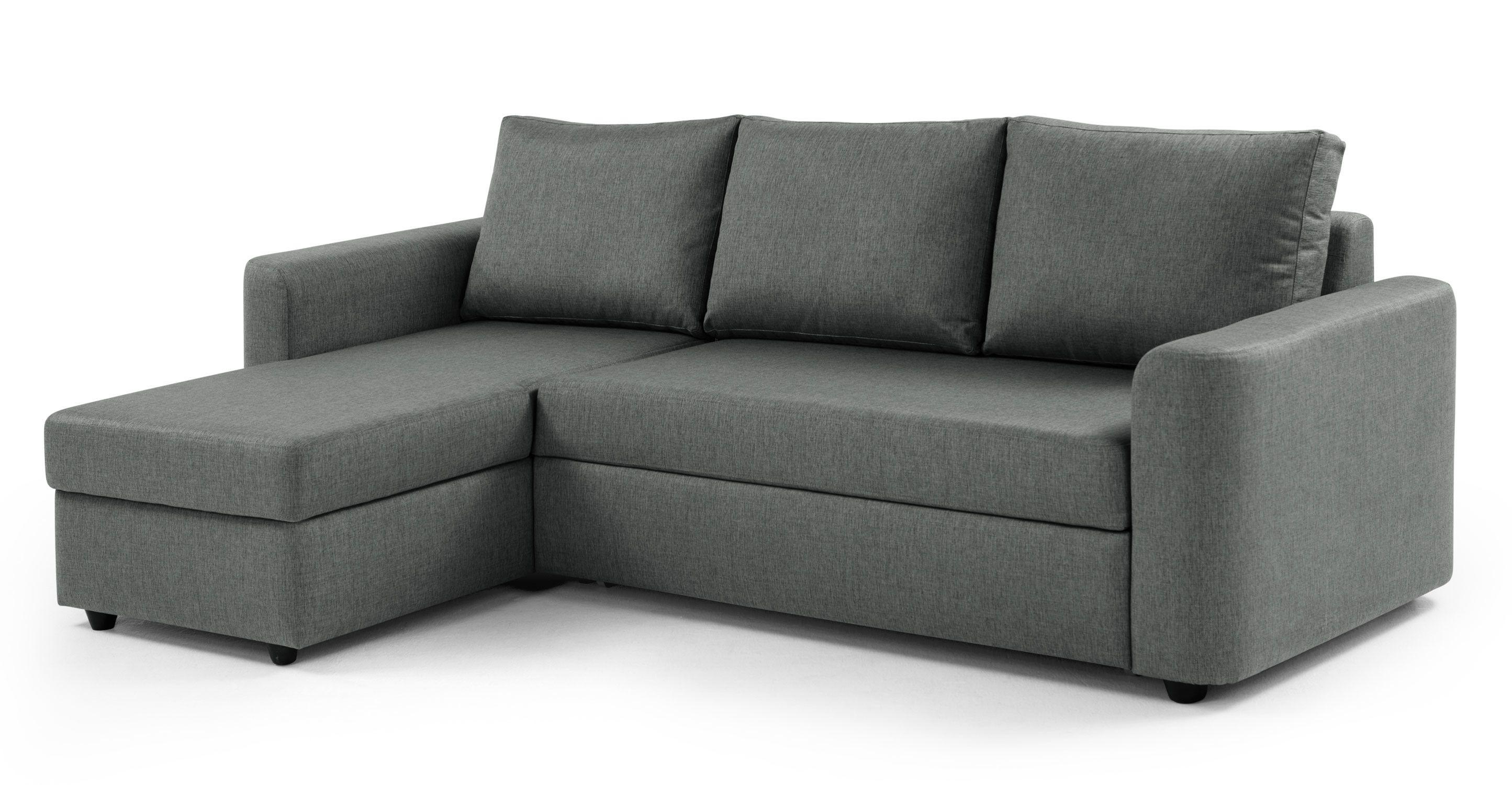 Albie Left Hand Facing Corner Storage Sofa Bed Charcol Grey Made Com Sofa Bed With Chaise Corner Storage Sofa