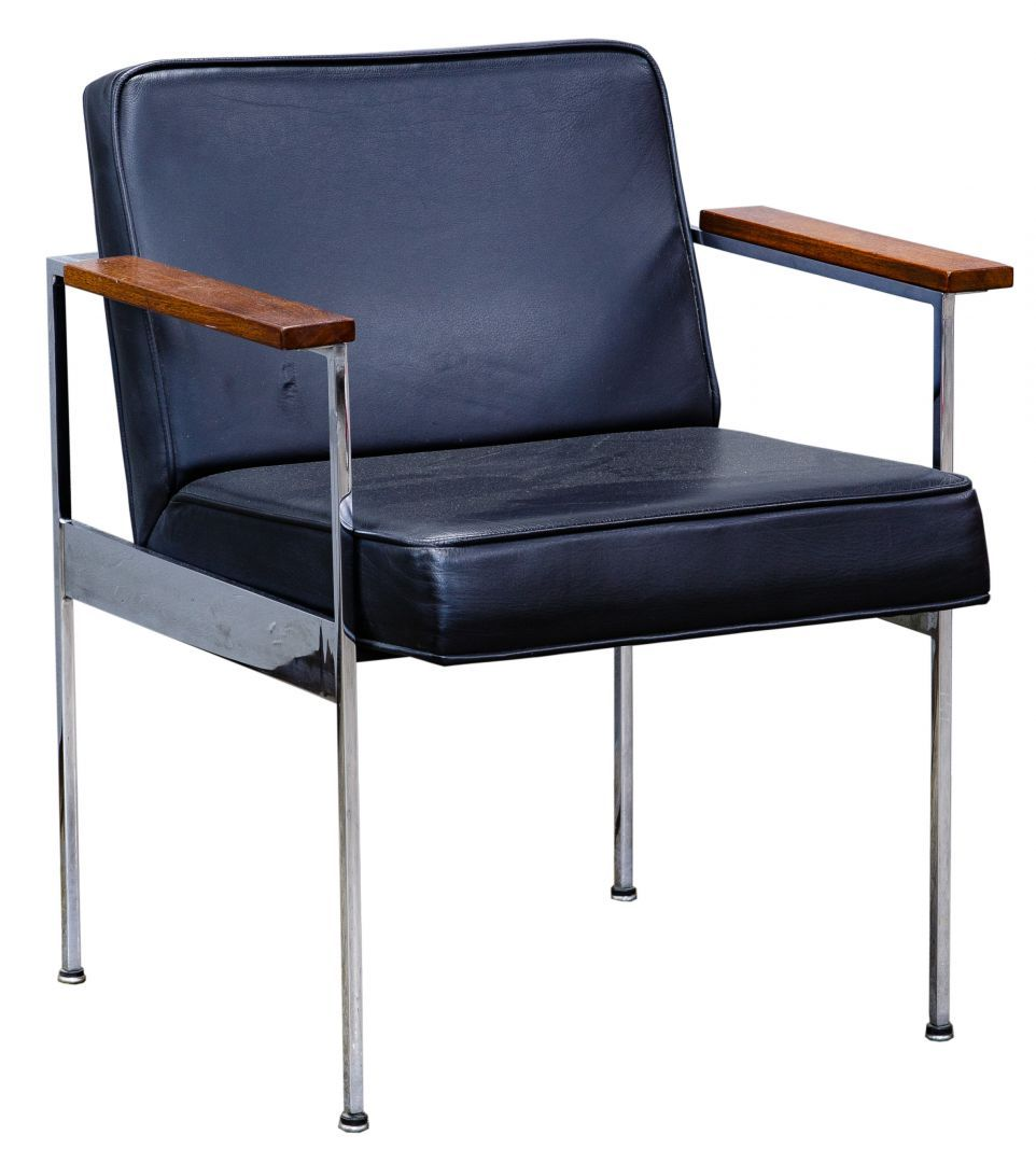 Mcm Multi Colored Accent Chair: Lot 78: MCM Office Chair By George Nelson For Herman
