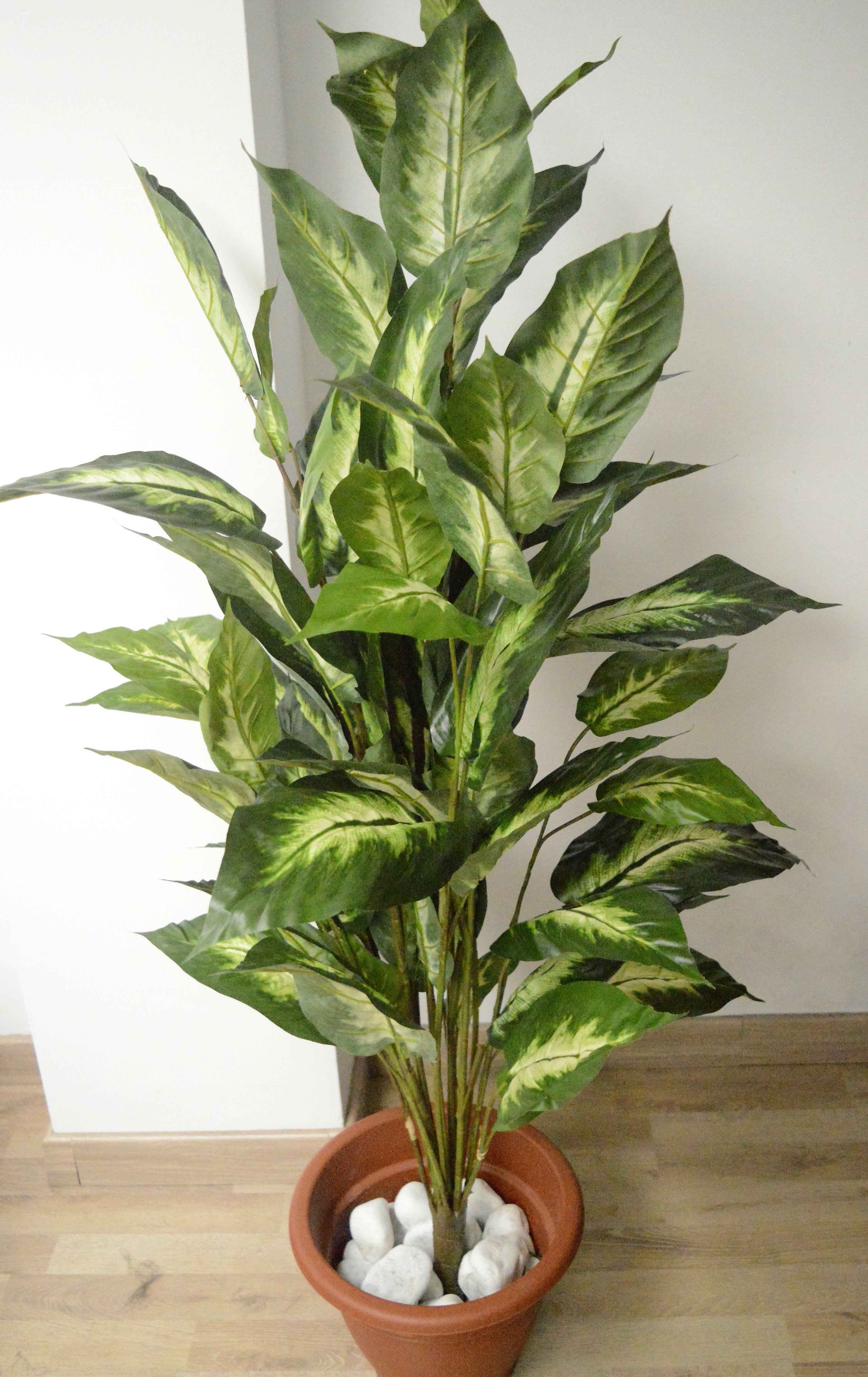 Bonita diefembachia artificial decoraci n imperecedera jard n artificial ideas - Plantas artificiales exterior ...