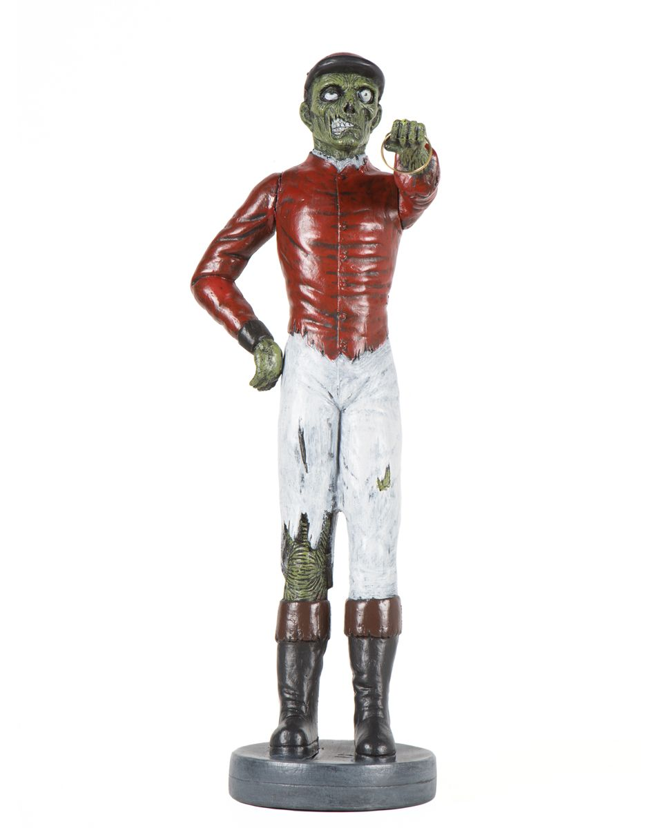 zombie lawn jockey at spirit halloween traditional ornaments are out zombified decorations are in