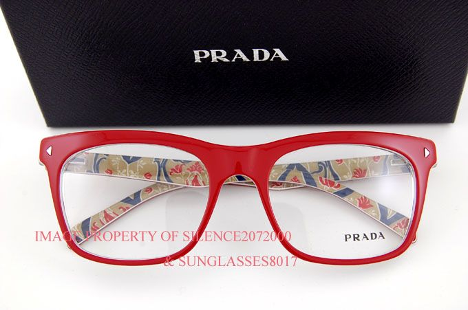 821aad3fc29 Brand New Prada Eyeglasses Frames 01NV abo Red