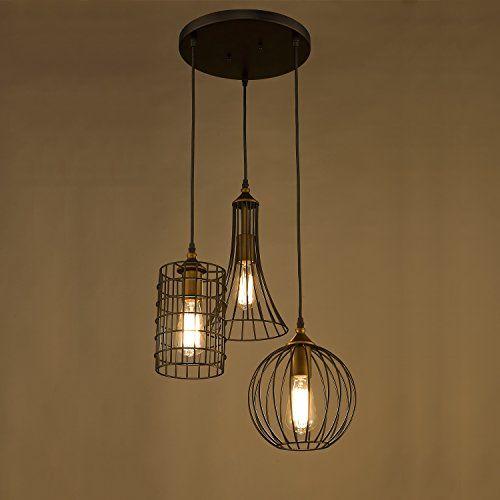Yobo Lighting Antique 3 Lights Island Chandelier Wire Cage Pendant Light Http