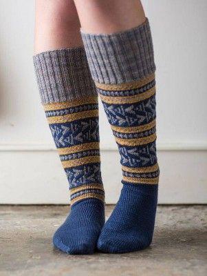 Fair isle socks knitting pattern from the Coop Knits Socks book ...