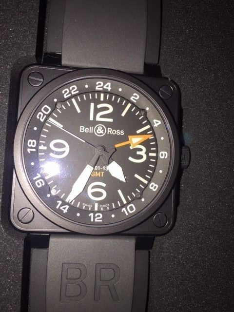 dd59c45a6fa BELL   ROSS BR-01-93-GMT AUTOMATIC 46 mm MEN S SPORT WATCH