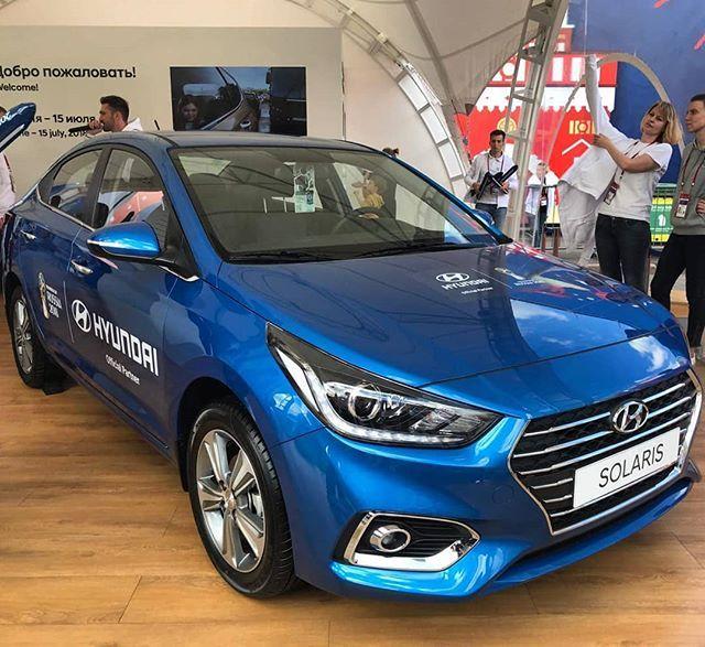 Hyundai Solaris 2019 Nova Geracao Do Sedan Compacto Do Accent E Exibida Na Fanfest De Sao Petersburgo Onde A Selecao Brasil Hyundai Accent Esporte Clube Carros