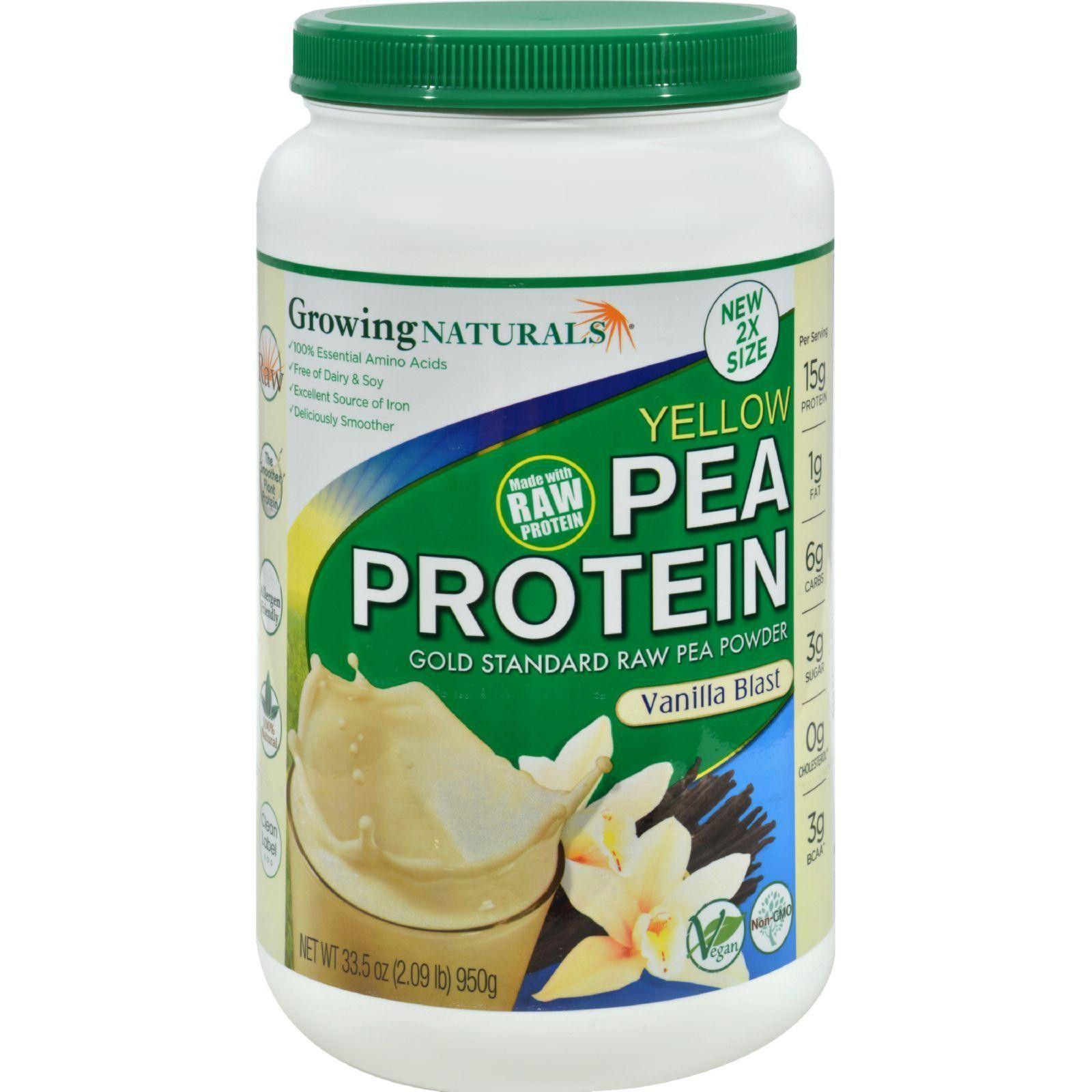 Growing Naturals Pea Protein Powder Vanilla Blast 33.5
