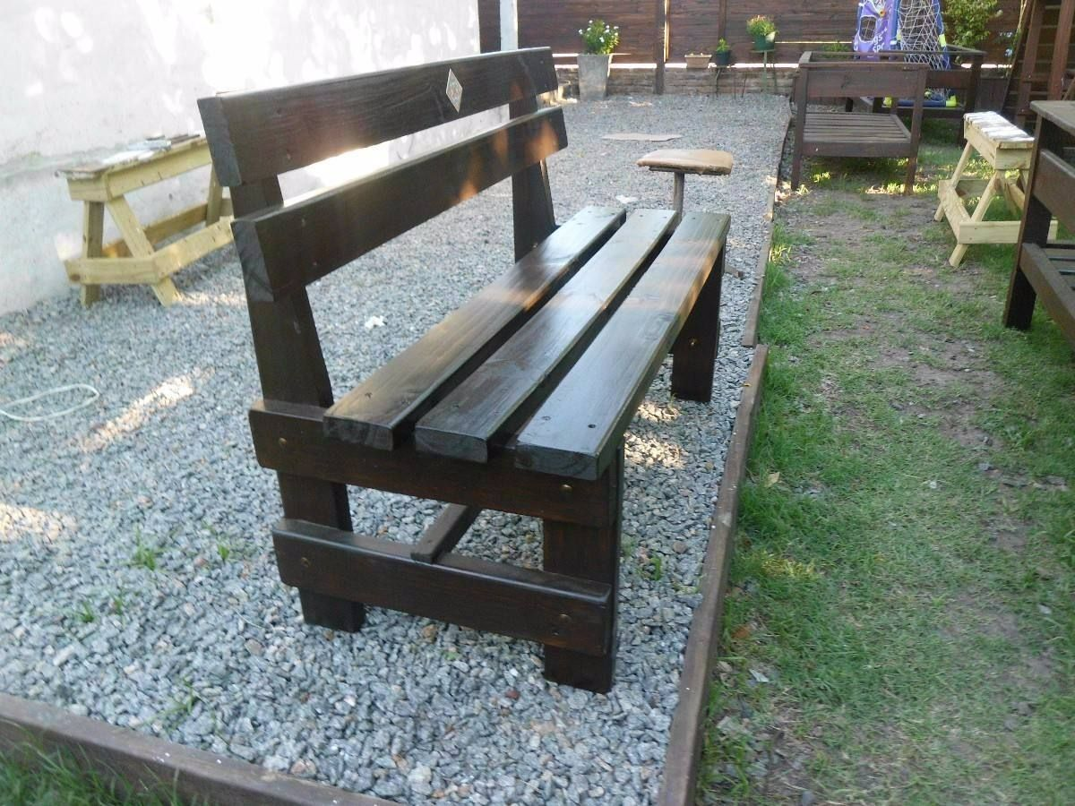 banco de plaza rustico estilo campor cuerpos jardin patio