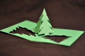Simple Pyramid Christmas Tree Pop Up Card Template Creative Pop Up Cards Pop Up Christmas Cards Pop Up Card Templates Pop Up Cards