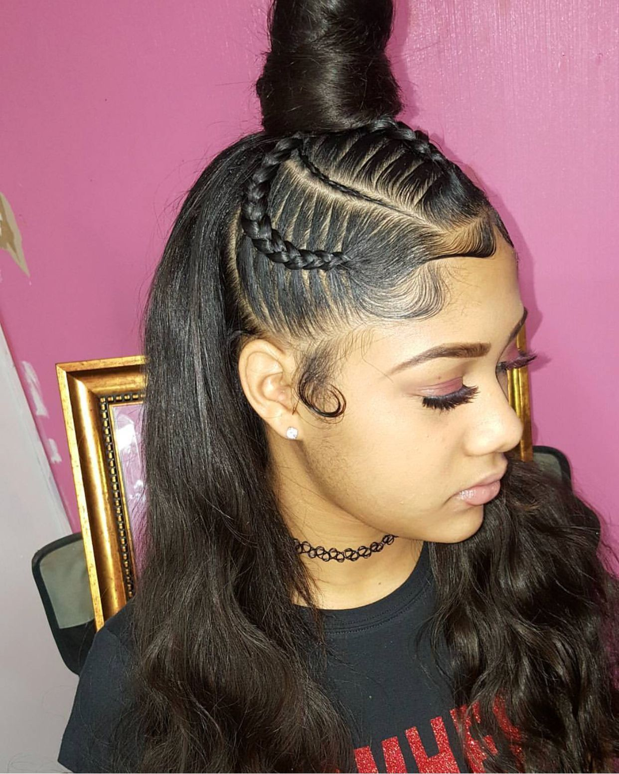Women Hairstyles With Bangs Colour Weave Ponytail Hairstyles Natural Hair Styles Weave Ponytail