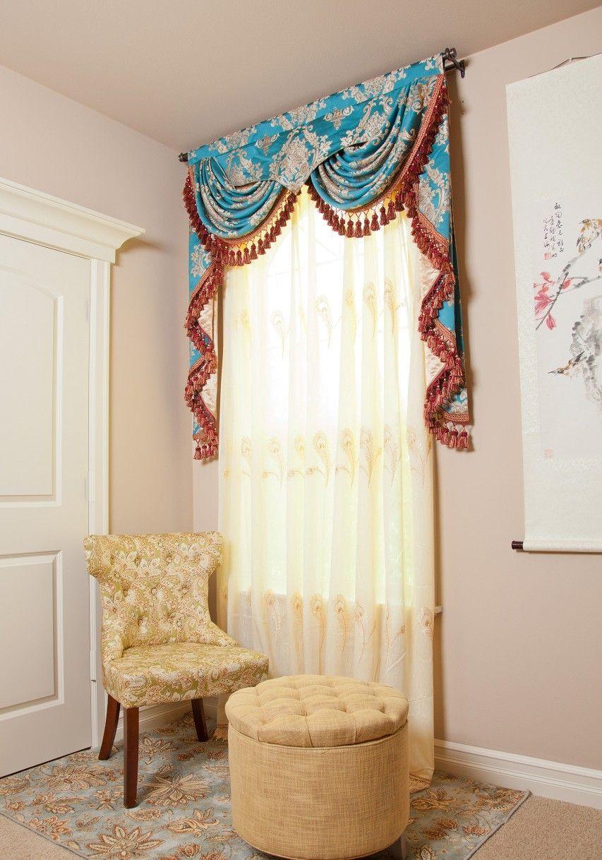 Ламбрекен с галстуками | Art | Pinterest | Cortinas, Interiores y ...