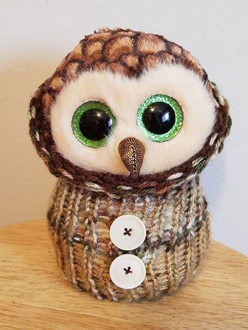Owl Cocoon  Beanie boo owl cocoon  Beanie boo clothes  Beanie Boo   Cocoons b7f6da7bc4f