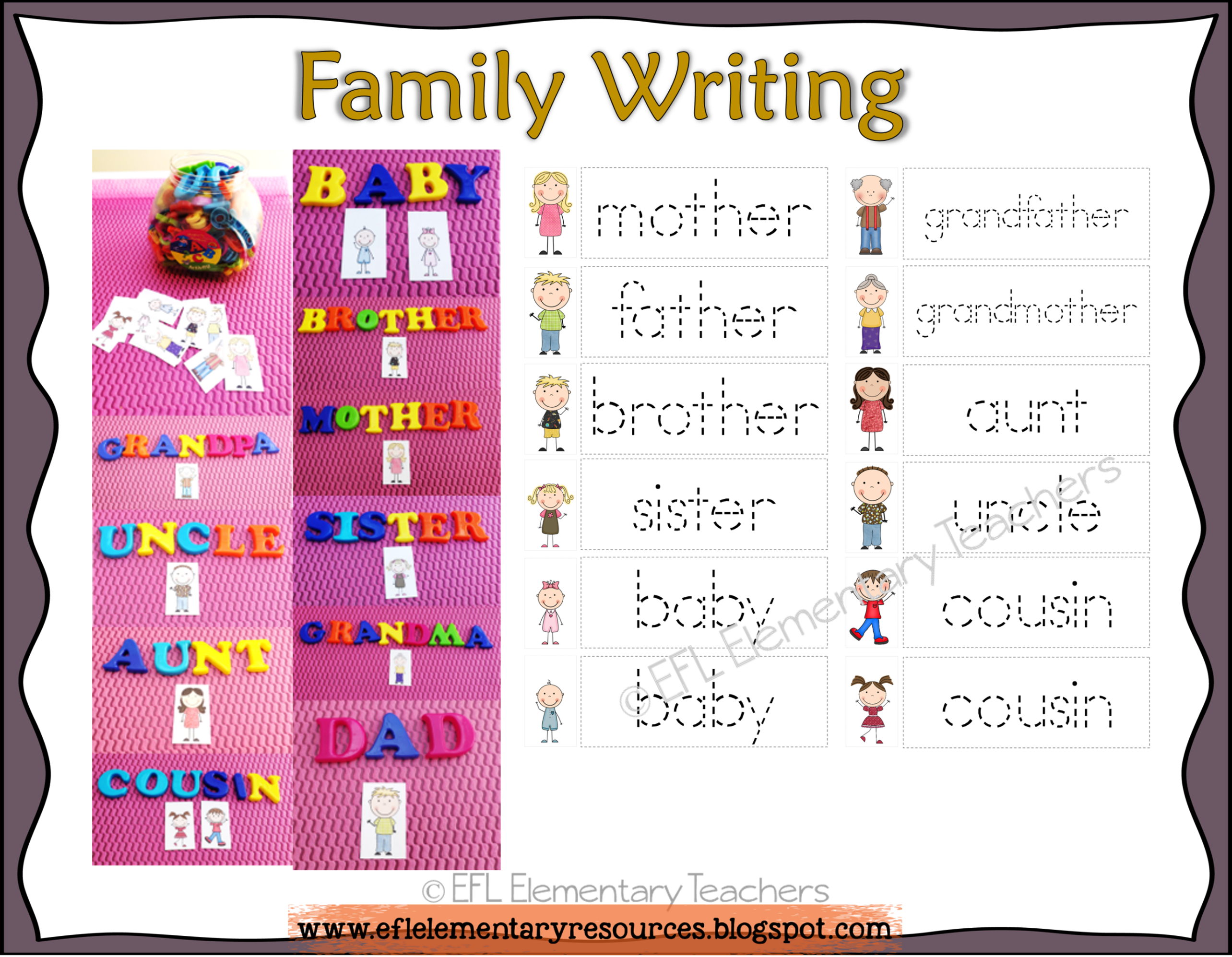 Family Worksheets For Esl Students Magnetic Letters Are