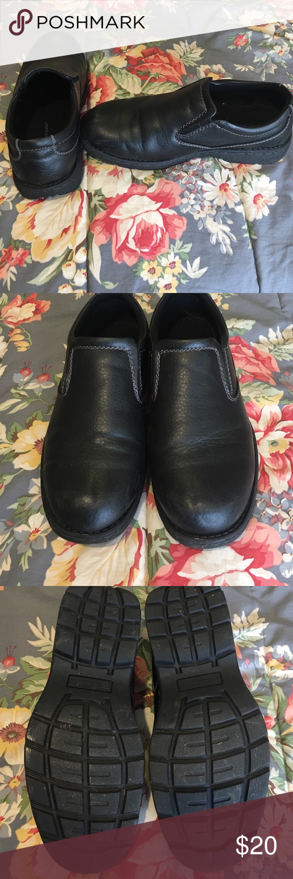 Men's Slip on dress shoes Barely worn slip on black dress shoes. Shoes Loafers & Slip-Ons