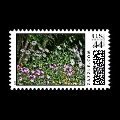 flower power postage stamp