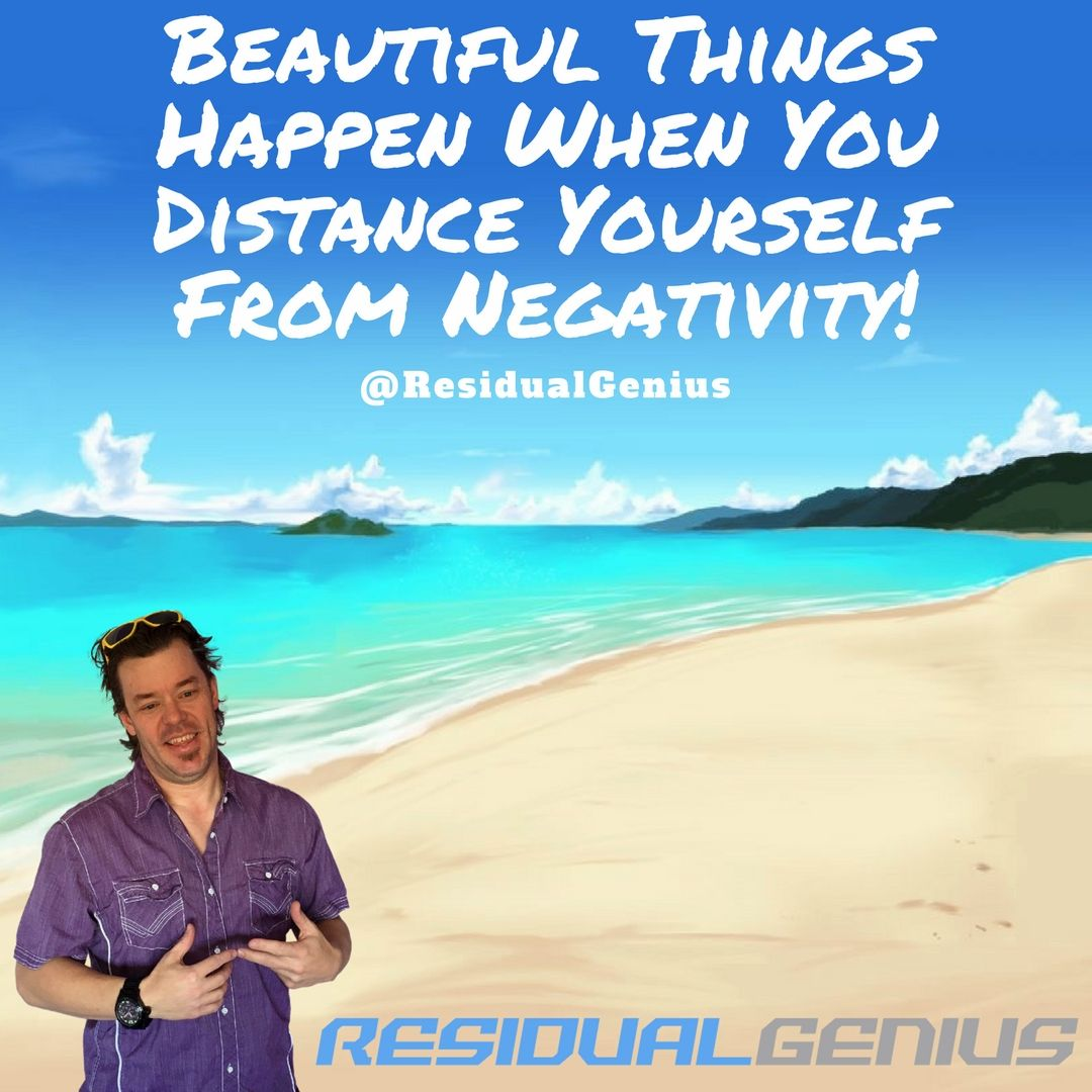 Beautiful Things Happen When You Ditance Yourself From Negativity!!