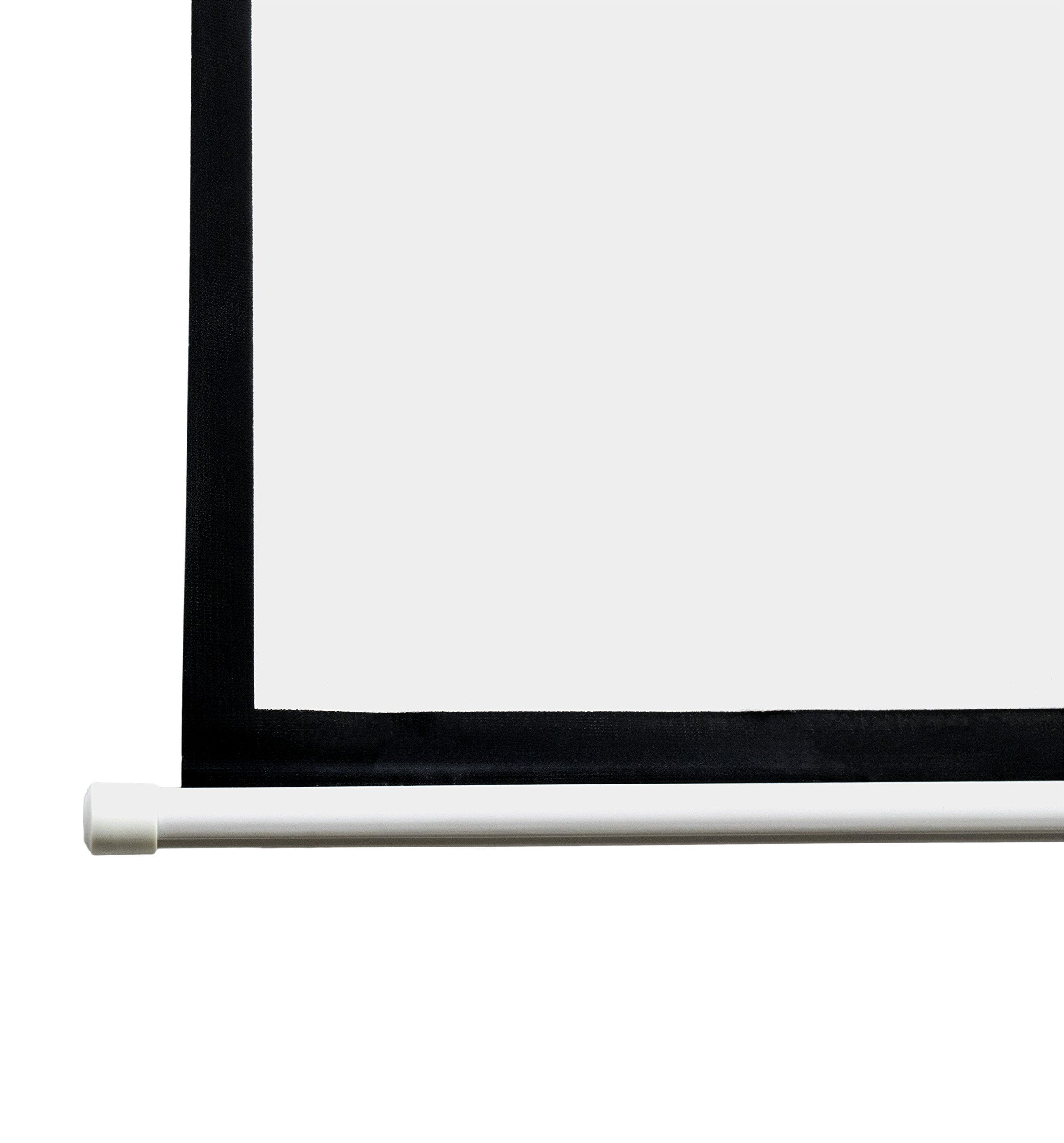 Vivo 100 Projector Screen 100 Inch Diagonal 16 9 Projection Hd Manual Pull Down Home Theater Home Theater Projectors Projector Screen Home Theater Installation