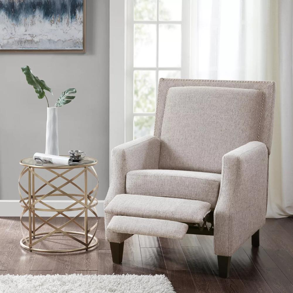 hargis recliner  gray in 2020  furniture recliner