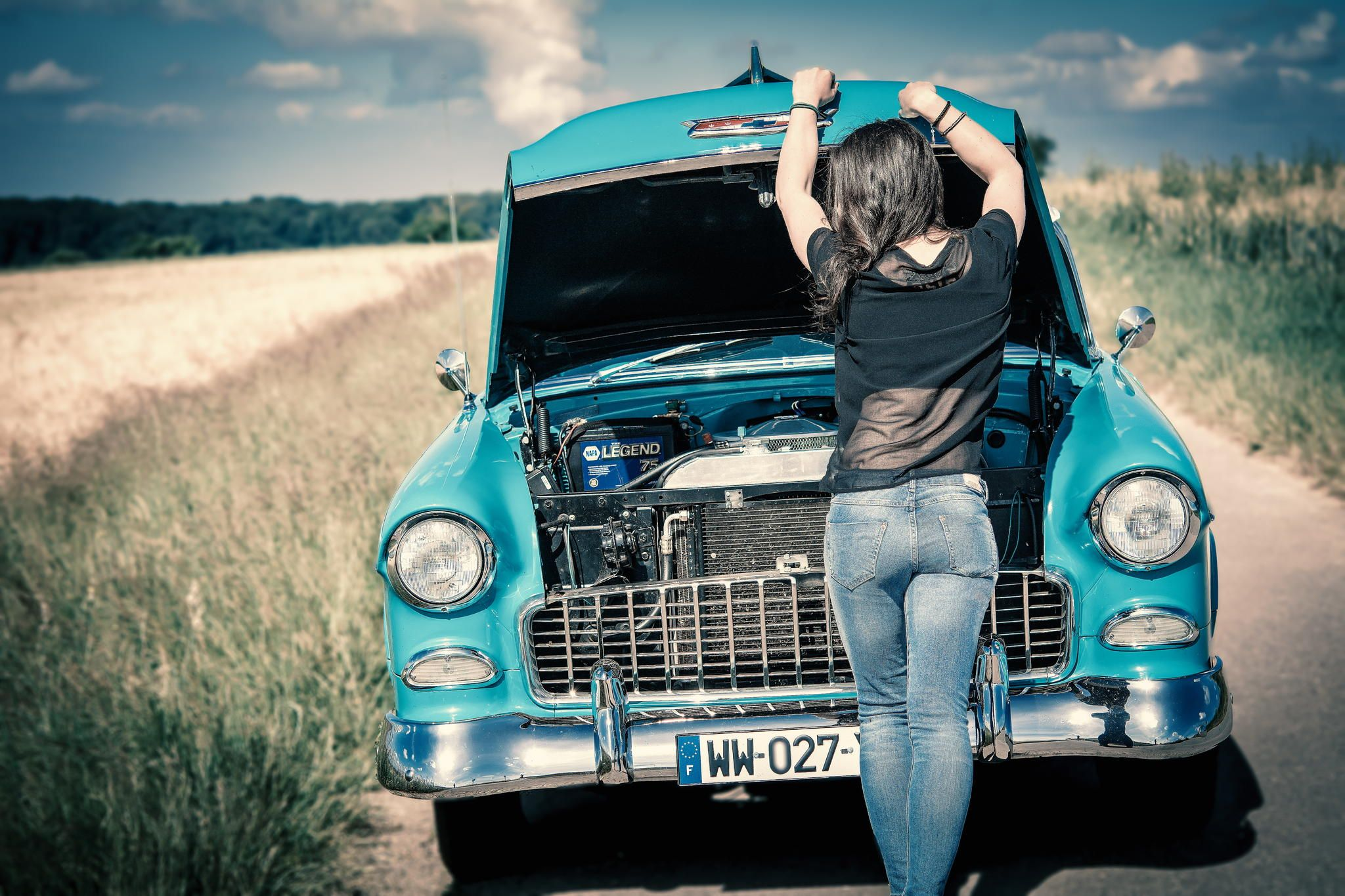 ღღ Classic Cars and classy Girls by Jean Claude Castor on