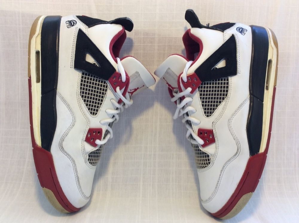 d1796c99394036 308498 162 NIKE AIR JORDAN IV 4 RETRO YOUTH SIZE 6.5Y WHITE BLACK RED  VARSITY  Jordan  BasketballShoes