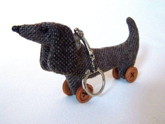 Sausage Dog Wiener Dog Dachshund Handbag Charm//Key Chain Doxie
