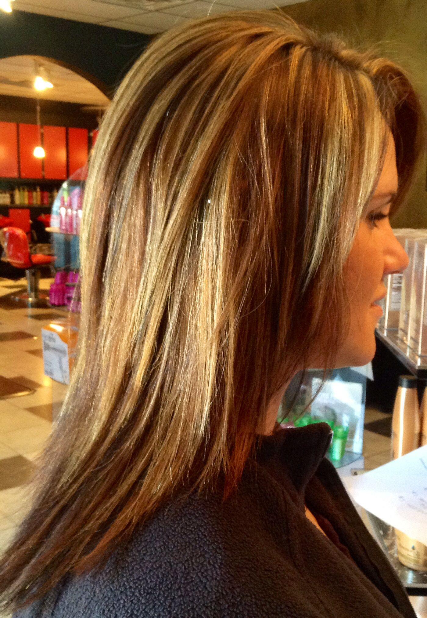 Color Redken Highlights Lowlights Blonde Brunette Mid Length Hair