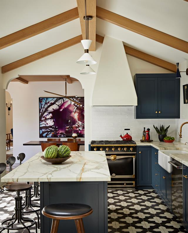 A 1920s Spanish colonial style home in Los Angeles with Moroccan touches
