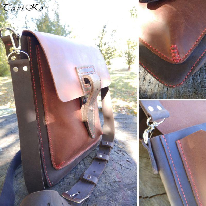 b8cb6b3cc578 Мужская кожаная сумка из кожи Крейзи Хорс - Каталог рукоділля #141218