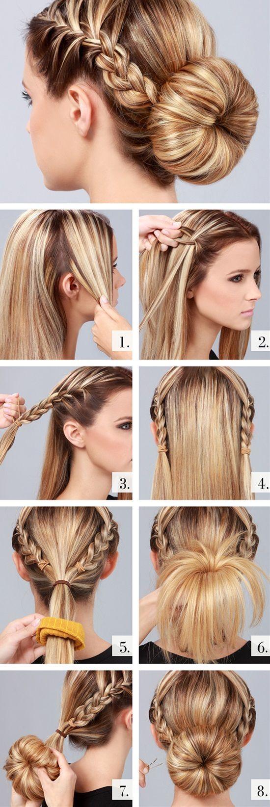 Cute braided bun hairstyles bun hairstyle braid hairstyles and