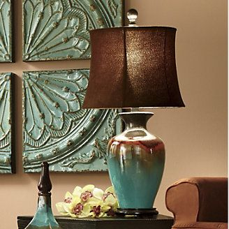 80 Glazed Ceramic Table Lamp From Through The Country