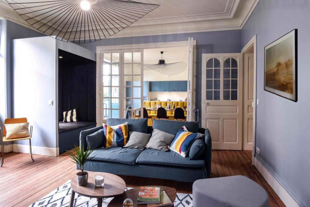 Renovation Julie Izaguirre Lime Living Spaces Co Living Bayonne Decoration Maison Mobilier De Salon Meuble
